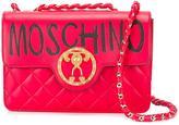 Moschino graffiti logo shoulder bag