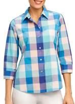 Foxcroft Mi Amor Matador Checked Button-Down Shirt
