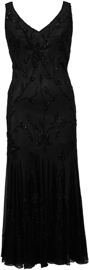 House of Fraser Chesca Black All Over Beaded Dress
