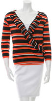 Prada Wool & Silk-Blend Striped Top w/ Tags
