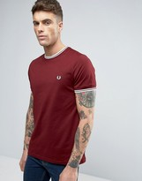 Fred Perry Twin Tipped T-shirt In Red