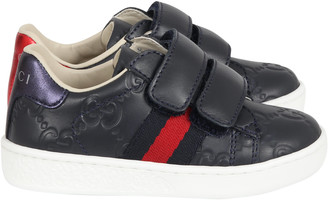 Gucci Blue Sneakers For Kids With Logo