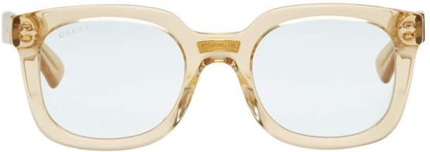 Gucci Yellow Opulent Luxury Square Sunglasses