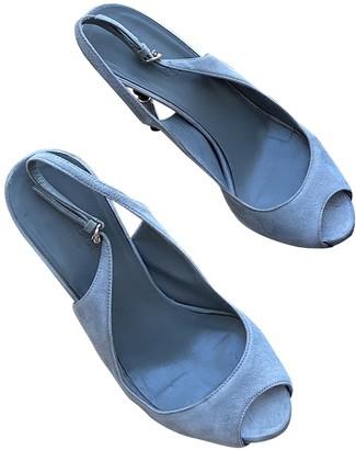 Gucci Blue Suede Heels