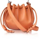 Jil Sander Pinch Small Leather Bucket Bag