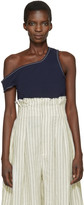 Jacquemus Navy le Marcel Qui Tombe Tank Top