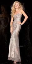 Scala Sweetheart Sequin Coated Prom Dress
