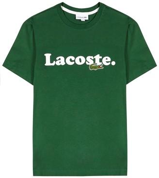 Lacoste Green logo-print cotton T-shirt