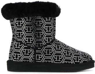 Philipp Plein Crystal Plein ankle boots