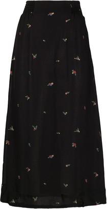 Ganni High-Waisted Floral Skirt