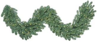 Vickerman 9-foot x 24-inches Oregon Fir Garland with 150 Warm White LED Lights