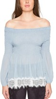 Willow & Clay Women's Shirred Off The Shoulder Top