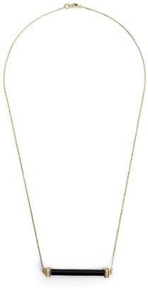 Kristin Hanson Onyx And Diamond Bar Necklace