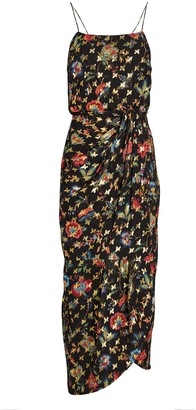 Derek Lam 10 Crosby Lexi Lurex Floral Sarong Dress