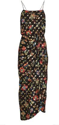 Derek Lam 10 Crosby Lexi Silk Floral Sarong Dress