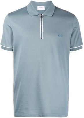 Salvatore Ferragamo Embroidered Logo Polo Shirt