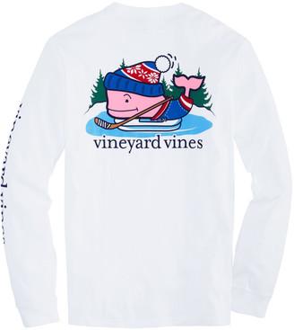 Vineyard Vines Pond Hockey Whale Long-Sleeve Pocket Tee