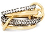 Spinelli Kilcollin Vega Diamond Pave, 18kt Gold & Silver Ring - Womens - Gold