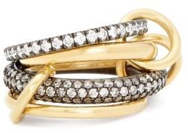 Spinelli Kilcollin Vega Diamond Pave, 18kt Gold & Silver Ring - Gold