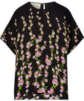 Gucci Floral-jacquard Blouse - Black