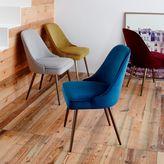 west elm Mid-Century Upholstered Dining Chair - Velvet