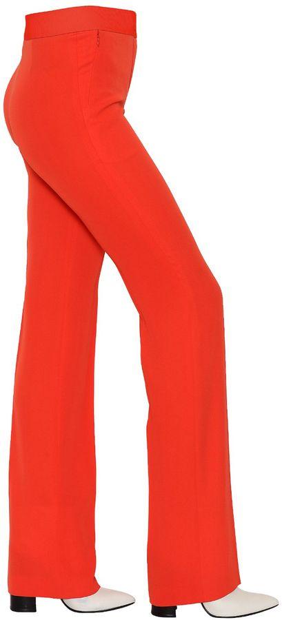 Akris Silk Crepe Georgette Trousers