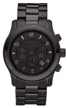Michael Kors Black-on-Black Stainless Steel Chronograph Watch