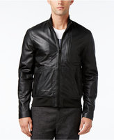 Armani Exchange Men's Blouson Leather Jacket