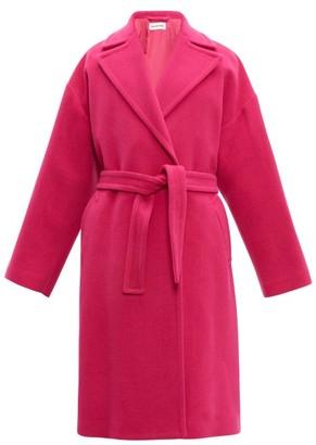 Balenciaga Oversized Camel Hair Blend Coat - Womens - Pink