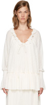 See by Chloe Off-white Gauze Jersey Blouse