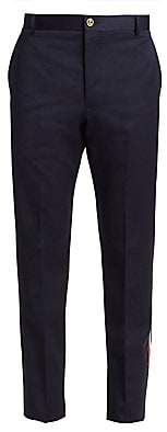 Thom Browne Men's Deconstructed Racing Stripe Chinos