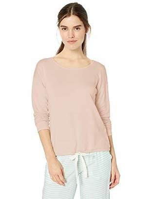 Amazon Essentials Women's Standard Lounge Terry Long-Sleeve Top, Light Pink, X-Large