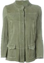 Sylvie Schimmel banded collar multi-pockets jacket