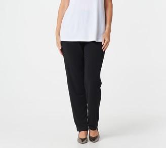 Susan Graver Every Day by Regular Liquid Knit Slim-Leg Pants