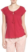 Lucky Brand Women's Embroidered Cotton Tee