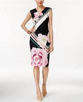 ECI V-Neck Sheath Dress