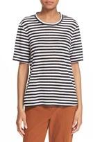 A.L.C. Women's 'Joels' Cutout Back Stripe Linen Tee