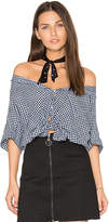 Cp Shades Georgia Front Tie Top in Blue. - size S (also in XS)