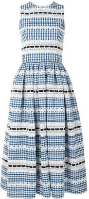Carolina Herrera Sleeveless Gingham Midi Dress