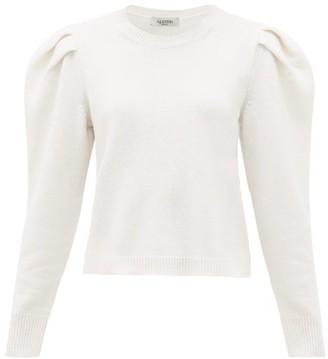 Valentino Puff-sleeve Cashmere Sweater - Womens - White