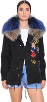 Mini Cotton Canvas Parka W/ Murmasky Fur