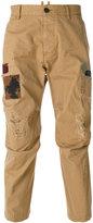 DSQUARED2 patch detail trousers - men - Cotton - 46