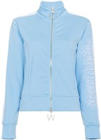 Off-White Off White Blue Zip Front Sports Jacket