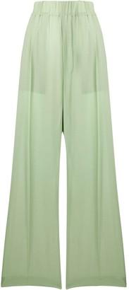 Jejia Wide Leg Silk Trousers
