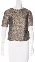 By Malene Birger Metallic Tweed Top