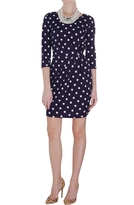 Polka Dot Fitted Dress