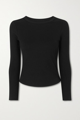 YEAR OF OURS Ribbed Stretch Top - Black
