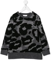 Stella McCartney camouflage intarsia sweater