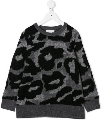 Stella McCartney Camouflage Intarsia Sweater
