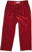 Max Mara Red Velvet Trousers for Women